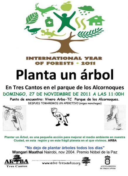 27-11-2011: Plantación en el Parque de los Alcornoques