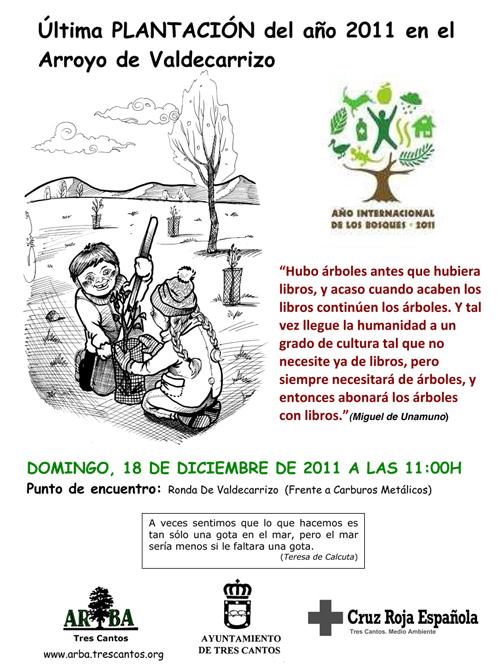 18-12-2011: Plantación en el Arroyo de Valdecarrizo