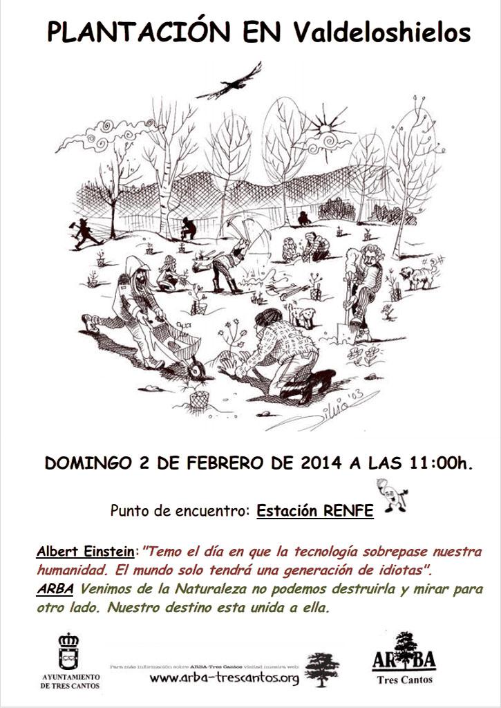 Plantación en Valdeloshielos – 2 de febrero de 2014