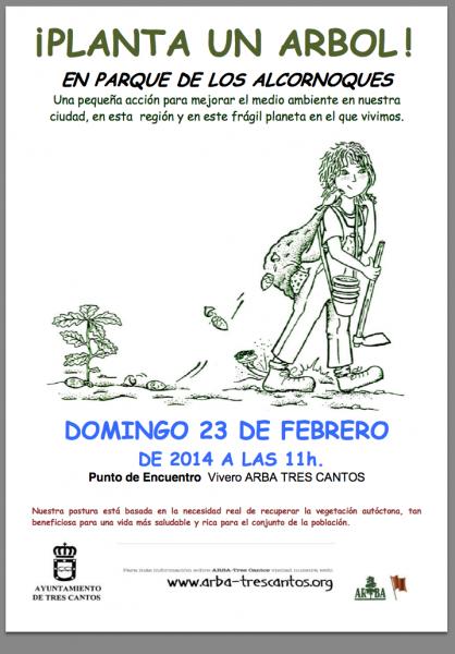 Plantación en el parque de los Alcornoques – 23 de febrero de 2014