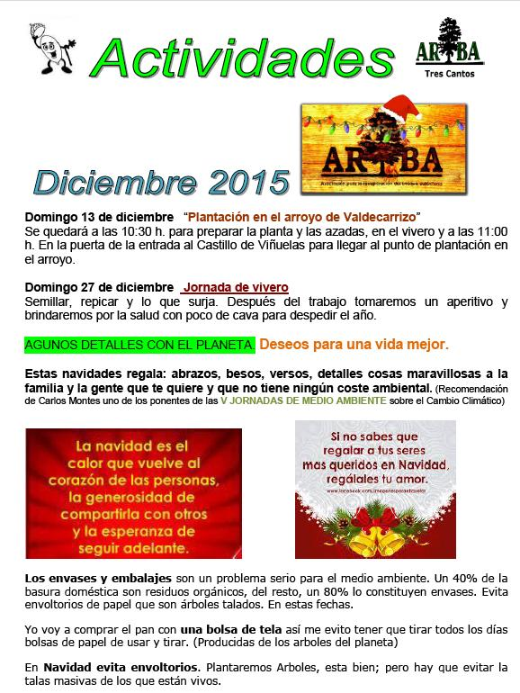Actividades Diciembre 2015