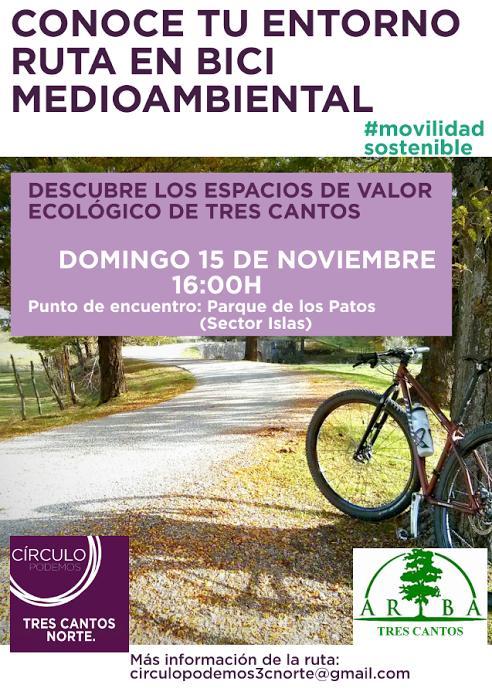 Ruta en bici medioambiental – 15 noviembre 2015