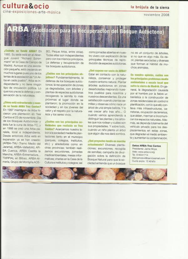 """Entrevista """"La Brújula de la Sierra"""" – Noviembre 2008"""