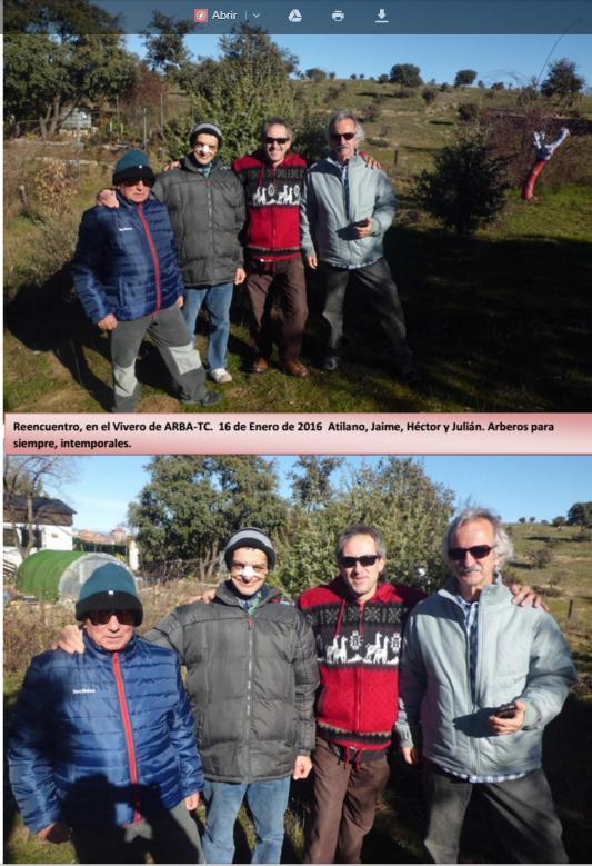 Breve reencuentro de Arberos en Tres Cantos – 16 enero 2916