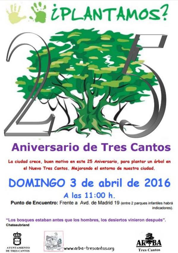 25 ANIVERSARIO DE T. CANTOS – Plantación 3 Abril 2016