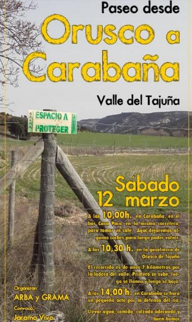 Paseo entre Orusco a Carabaña – Sábado 12 de marzo 2016