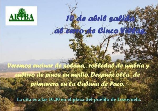 Excursión al Cerro de las Cinco Villas – 10 de abril 2016