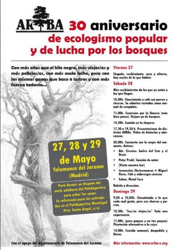 30 Aniversario de Arba Madrid – 27, 28 y 29 de mayo 2016