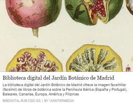 Biblioteca digital del Real Jardín Botánico de Madrid