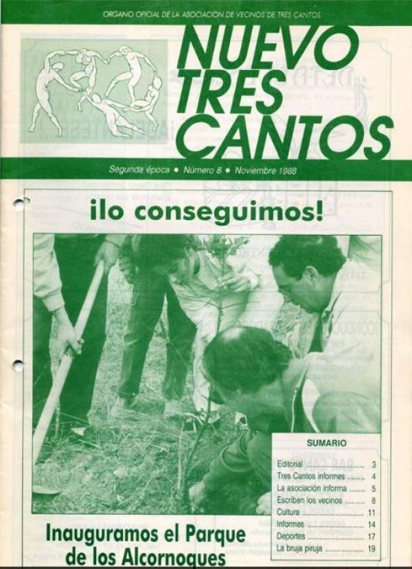 Historia del Parque de los Alcornoques – Tres Cantos Noviembre1988