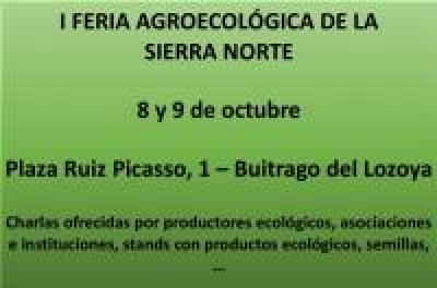 I Feria Agroecológica de la Sierra Norte de Madrid | 8 y 9 de octubre, Buitrago del Lozoya