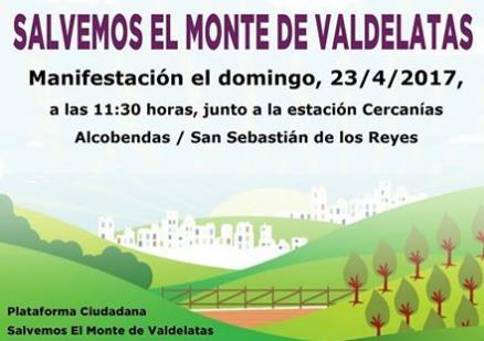 Manifestación por la defensa de Valdelatas – 23 abril 2017