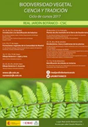 Ciclo de cursos 2017 del Real Jardín Botánico, organizados desde la Unidad de Cultura Científica